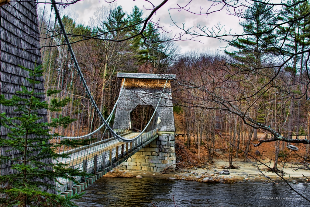 wire bridge photography landscape photography of maine